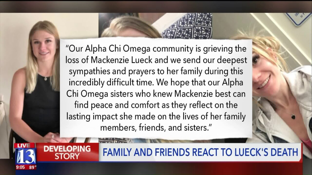 Family and friends react to MacKenzie Lueck'sdeath