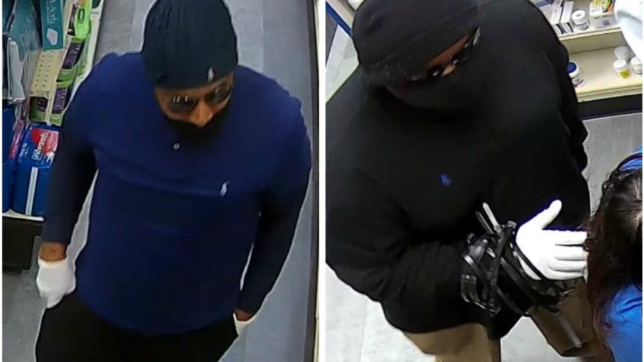 Police: 2 masked men steal medications in Henrico pharmacy robbery