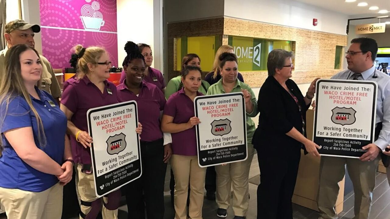Hotel recognized for joining Waco PD's safety hotel program