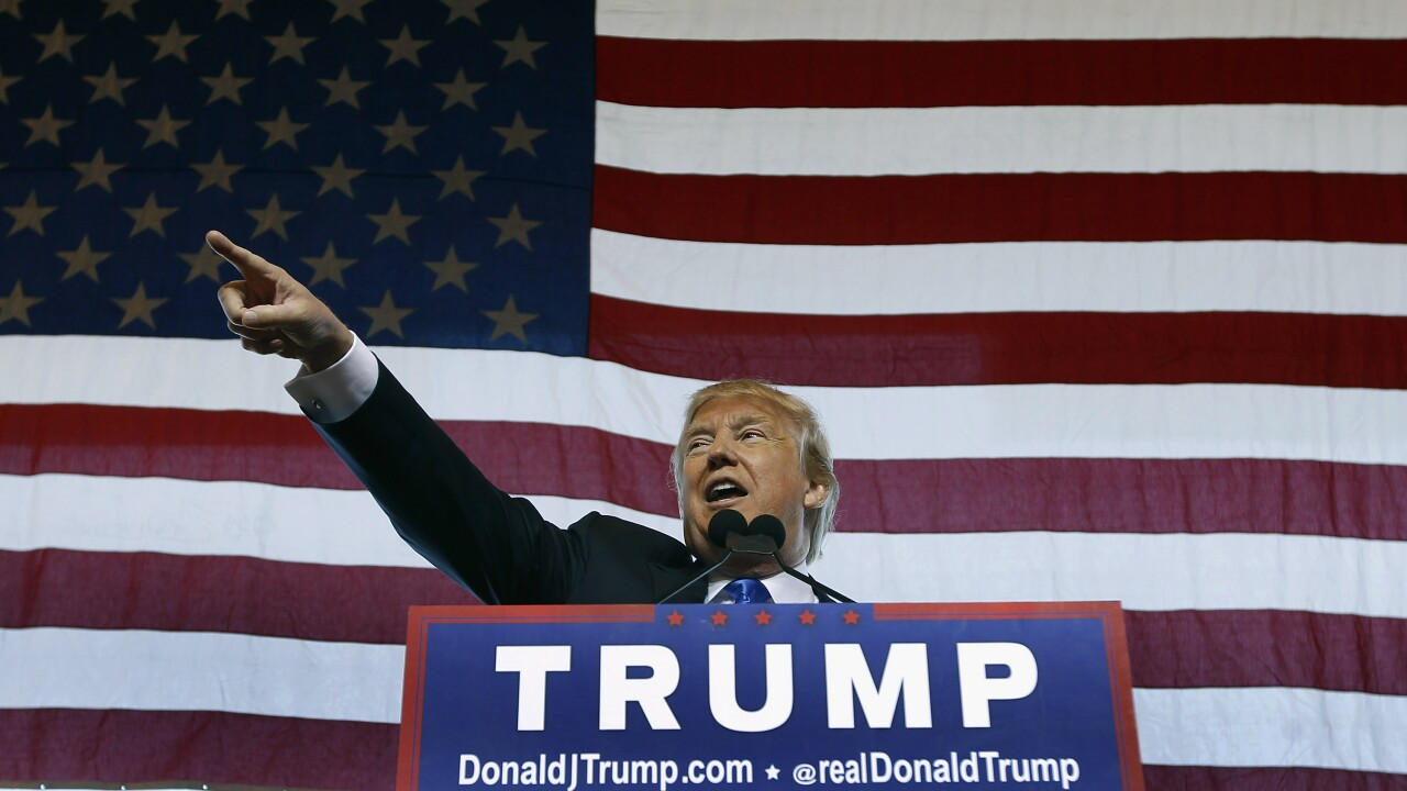 Republican Presidential Candidate Donald Trump Holds Rally In Mesa, Arizona