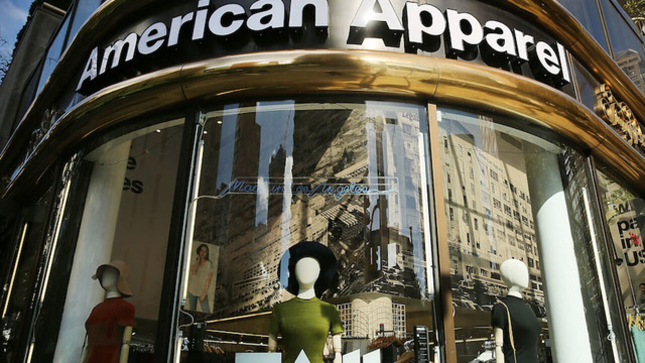 American Apparel files for bankruptcy protection, again
