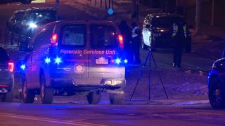 Scene of hit-and-run crash Michigan and Division, Grand Rapids