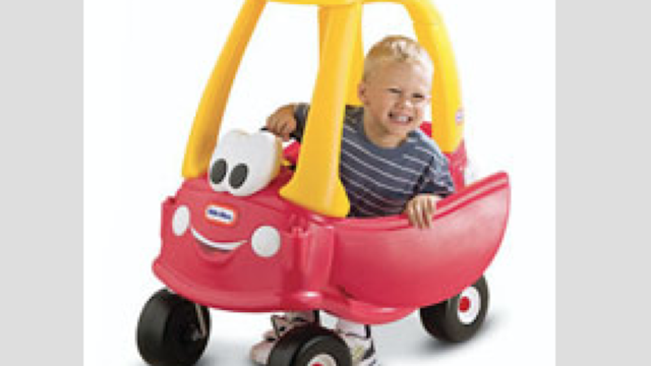 Adult-sized Little Tikes' car goes up to 70 mph
