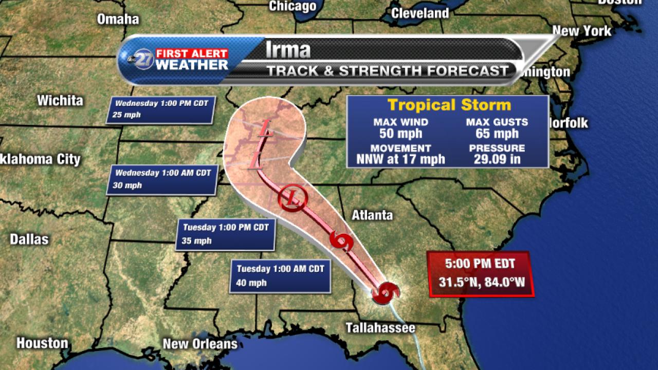 Irma forecast track (09/11/2017)
