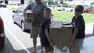 People Taking Action: Two amazing fifth graders donate over 2,000 pounds of food to Peninsula foodbank