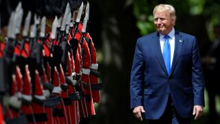 Photos: President Trump visit the Queen at Buckingham Palace