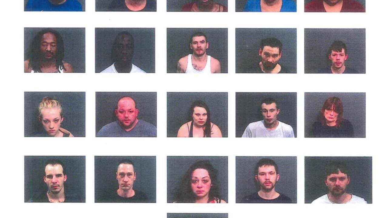 Police arrest 21 people in 4-days of drugs busts in Marion