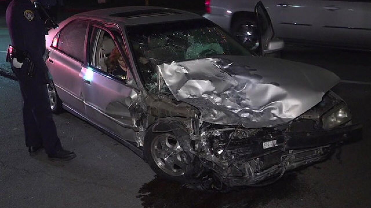 Driver slams into SDPD cruiser; officer injured