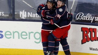 Max Domi Red Wings Blue Jackets Hockey