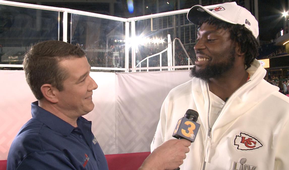 Photos: Wink gives Virginia Beach's Derrick Nnadi a 'Nnadi List' at Super Bowl OpeningNight
