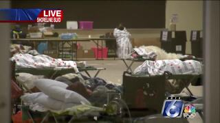 American Bank Center  serving as short-term warming center