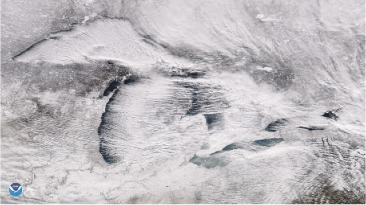 Great Lakes ice coverage skyrockets in four weeks during deep freeze
