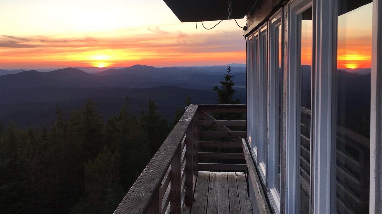 Rent a fire lookout tower for $40 a night