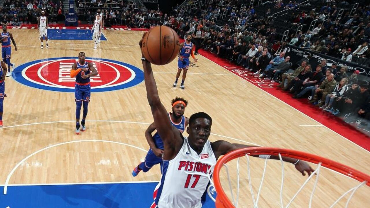 Snell perfect from field as Pistons rout Knicks