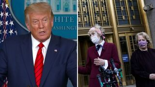 President Trump and E. Jean Carroll