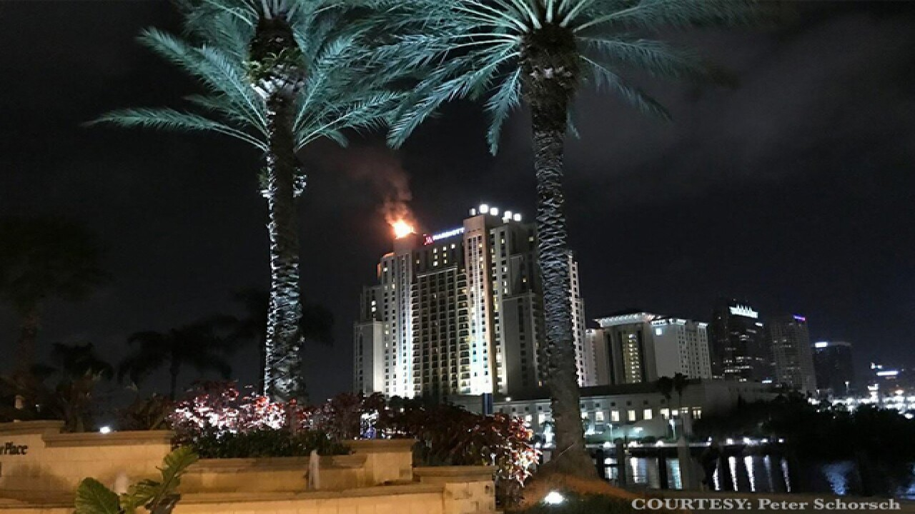 3-alarm fire at Tampa Marriott Waterside