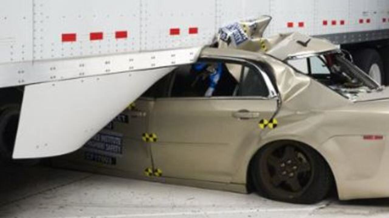 Tests show truck side guards could save lives