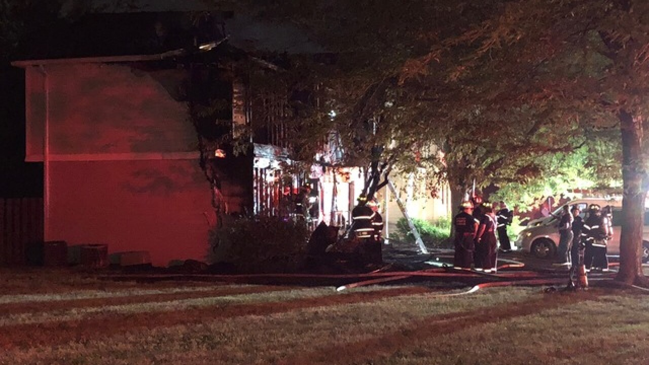 Four families displaced after apartment fire