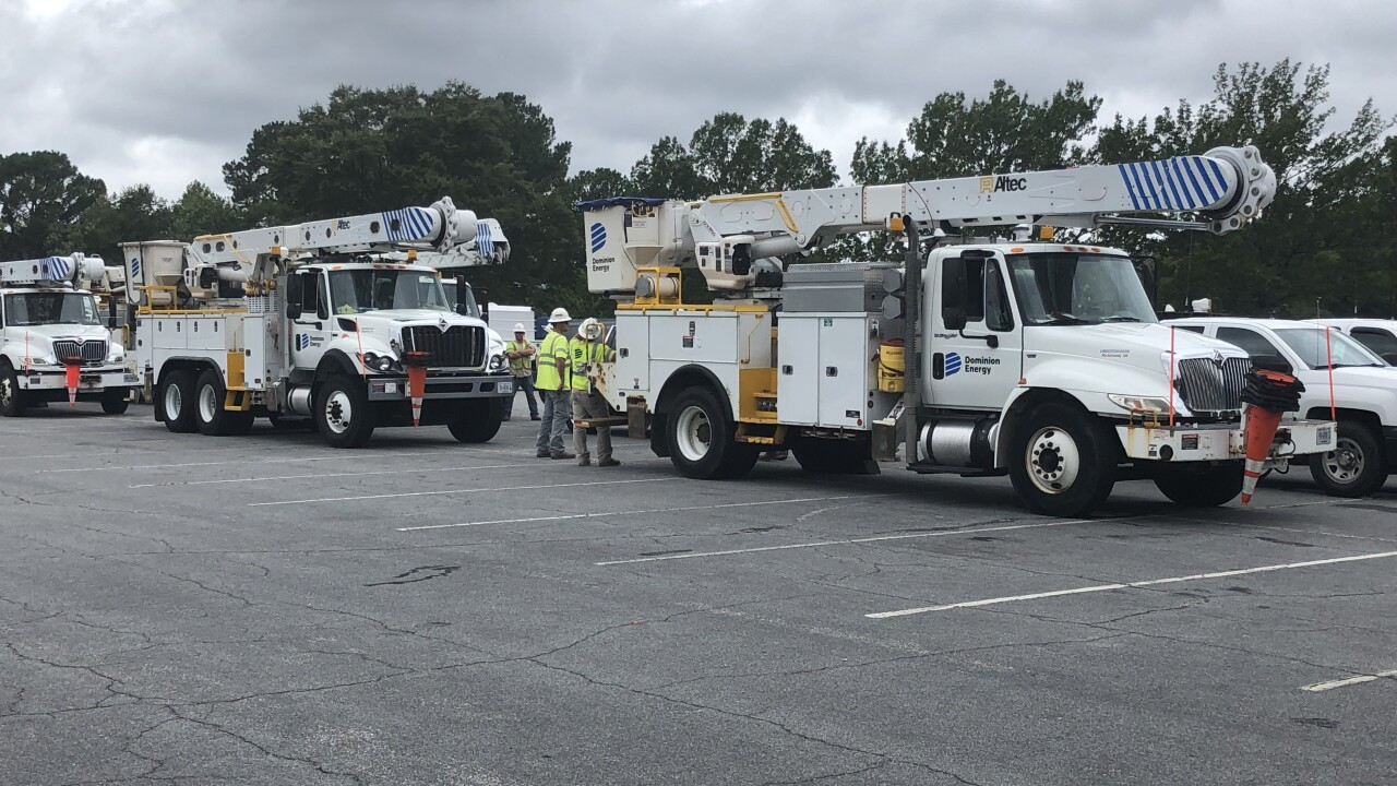 Extra Dominion Energy crews heading to Hampton Roads to assist in hurricanepreparation