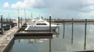 Boats docked at the Pahokee Marina on July 19, 2021.jpg