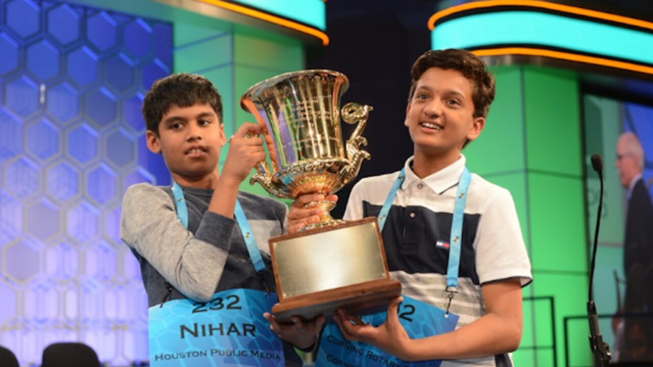 Co-champs share Scripps National Spelling Bee