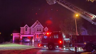 Roof collapses in northland house fire, no injuries