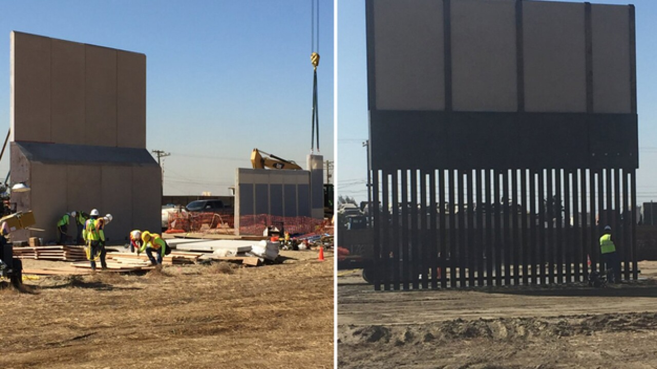 Border wall prototypes near completion by border