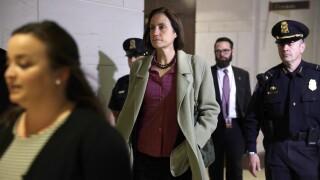 Former Trump Russia Advisor Fiona Hill  Returns To Review Deposition Transcript