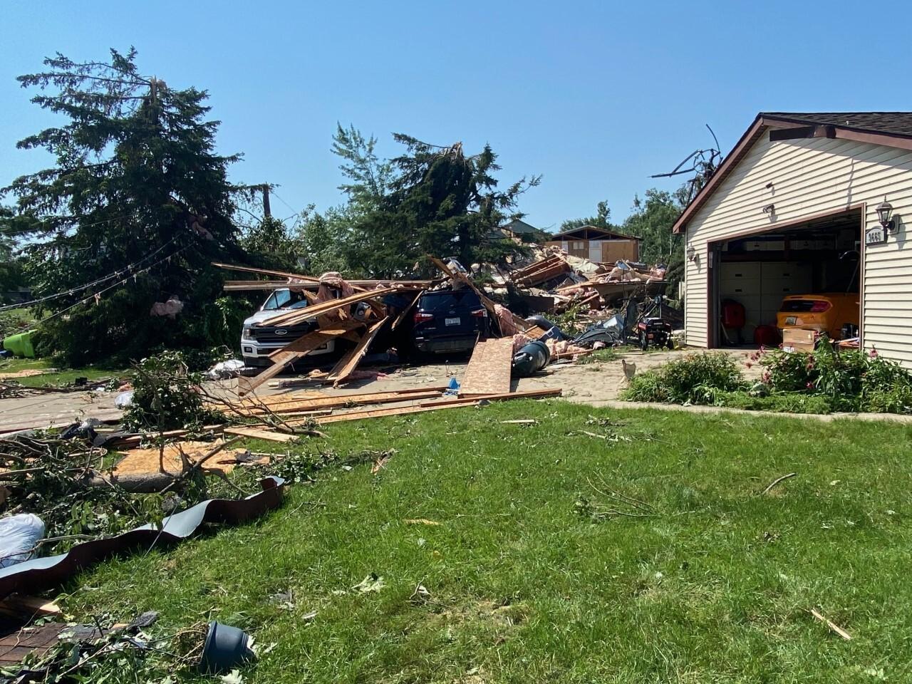 White Lake tornado damage