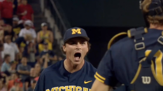 Tommy Henry throws complete game shutout in Michigan win over Florida State at College World Series