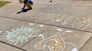 Maverick sidewalk chalk