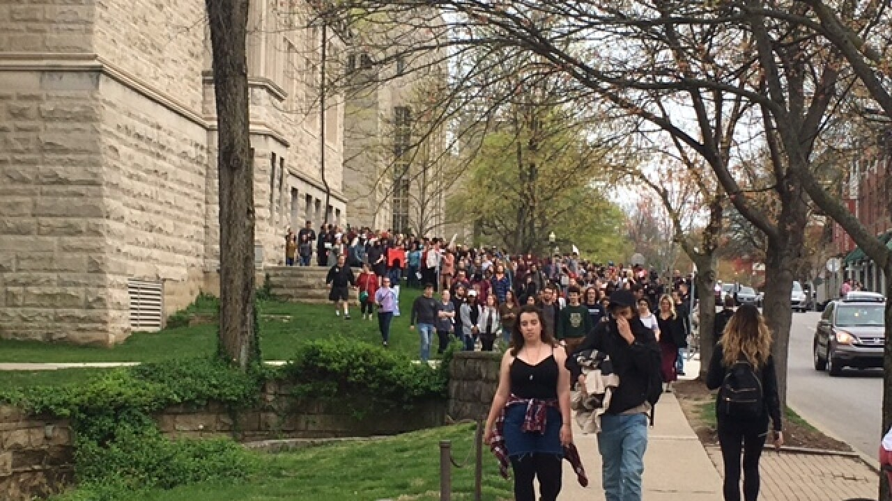IU students, staff protest controversial speaker