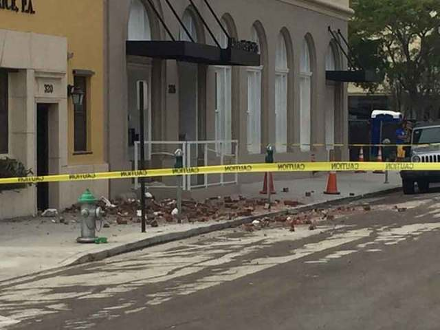 PHOTOS: 4 hurt in wall collapse in downtown West Palm Beach