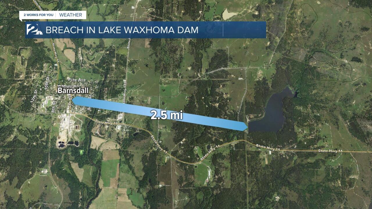 GRAPHIC: Lake Waxhoma dam measure