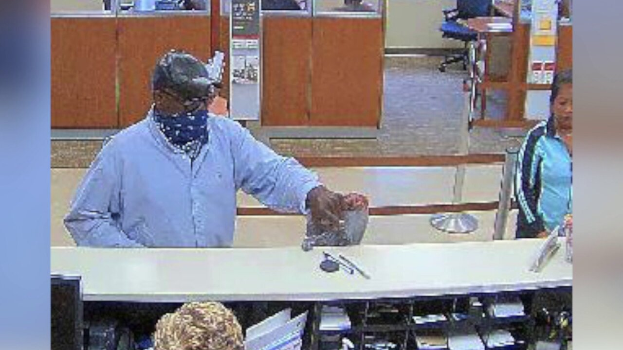 Man armed with handgun wanted for robbing Chesterfield bank