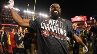 Raheem Mostert #31 of the San Francisco 49ers