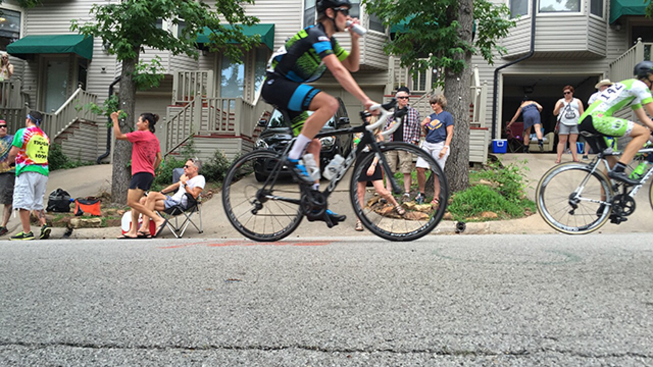 Athletes, spectators take to Cry Baby Hill