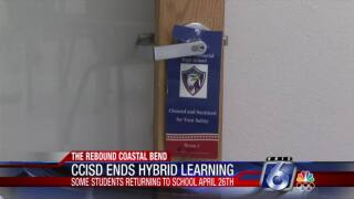 End of hybrid learning at CCISD approaches on Monday