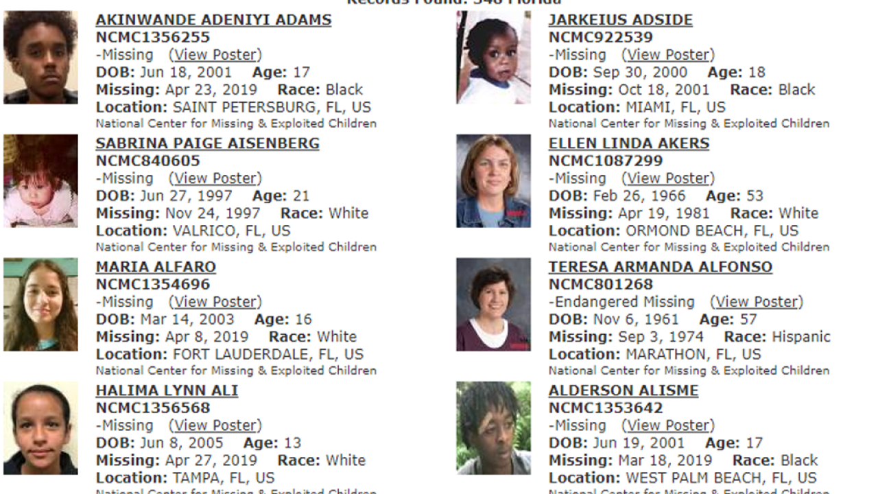 National Missing Children's Day 2019: These are Florida's missing