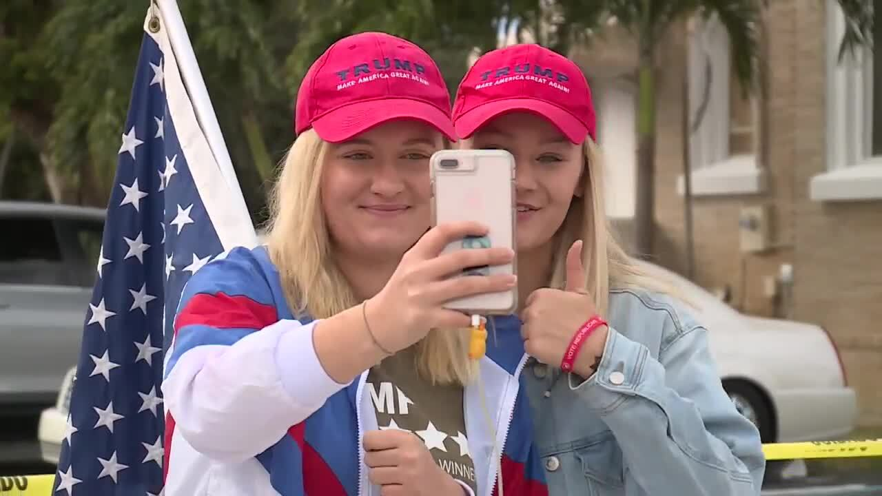 'Patriot Sisters' smile while supporting Donald Trump, Jan. 20, 2021