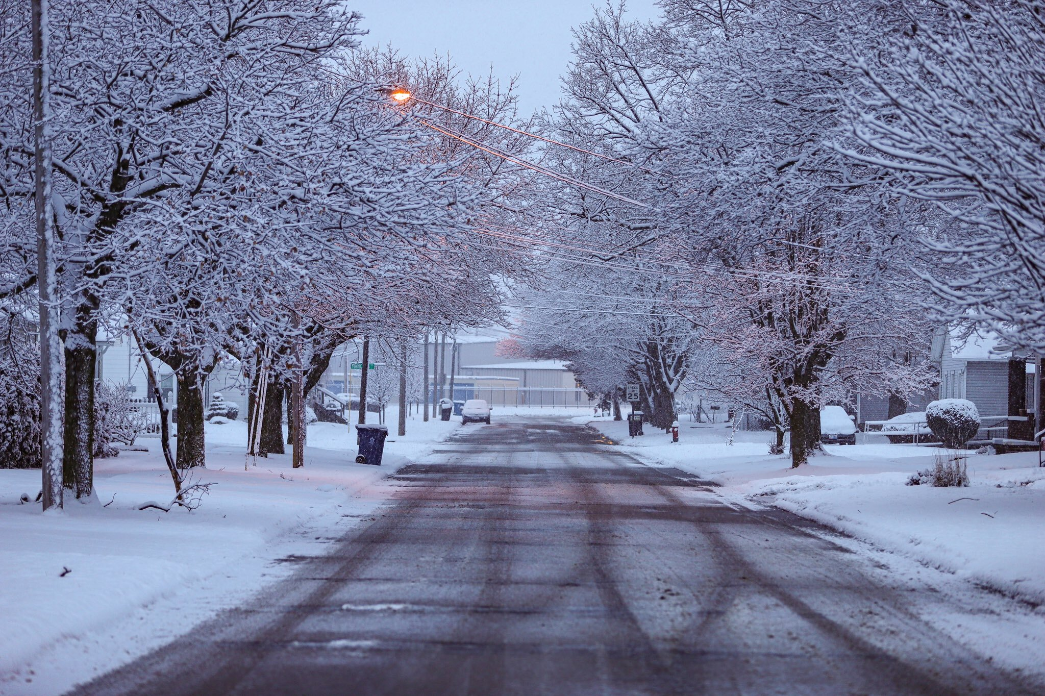 View of streets in Sandusky.