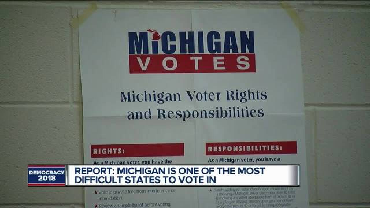 Study: MI one of the hardest states to vote in
