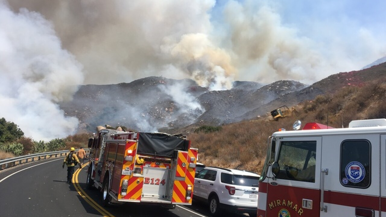 North County fire shuts down SR-78