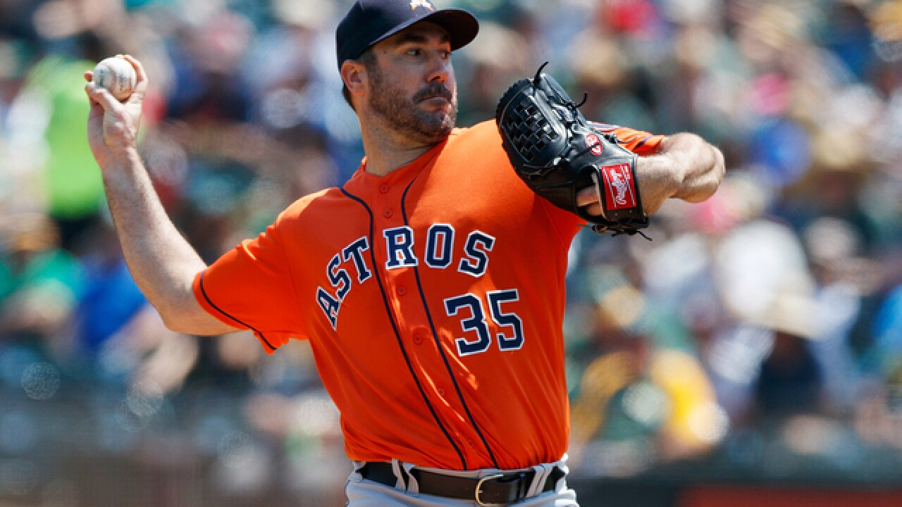 200th win for Justin Verlander as Astros top A's to avoid sweep