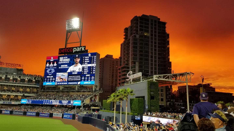 Padres sunset