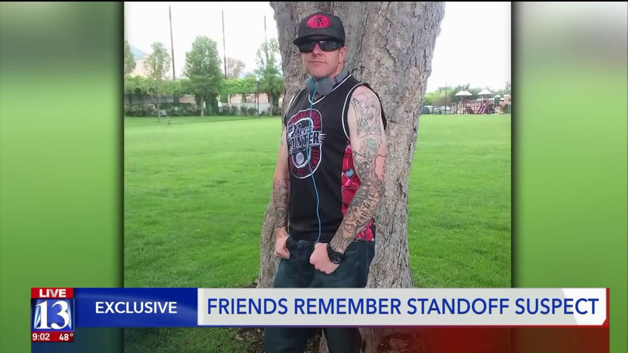 Friends say suspect of I-15 standoff in Clearfield struggled with addiction issues