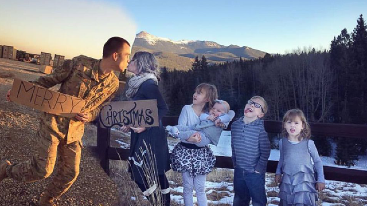 Colorado Springs Christmas.Colorado Springs Wife Creatively Includes Deployed Air Force