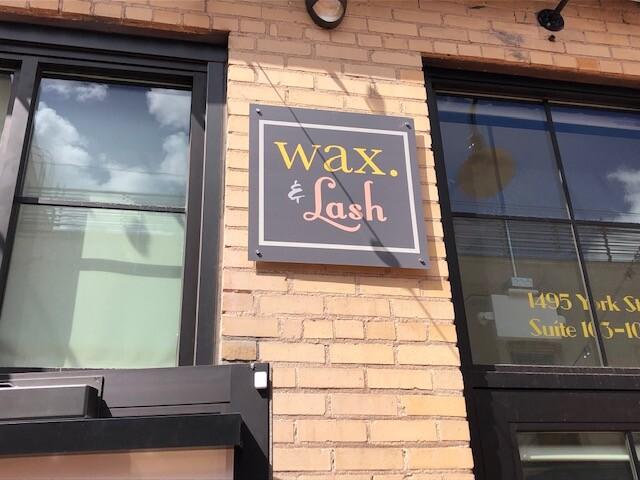 Wax & Lash Sign