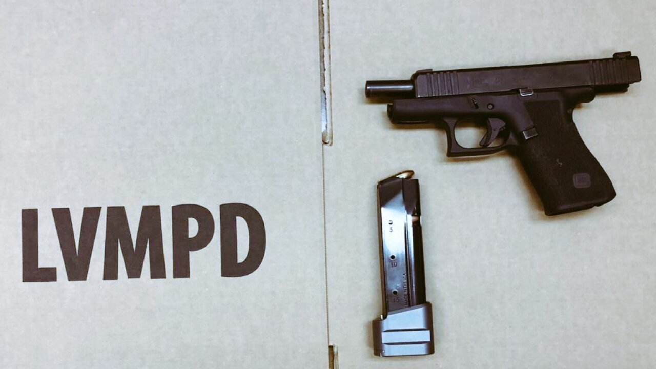 Capt. Dori Koren with LVMPD posted this picture of a gun recovered during an encounter with a 15 year old on the Las Vegas Strip