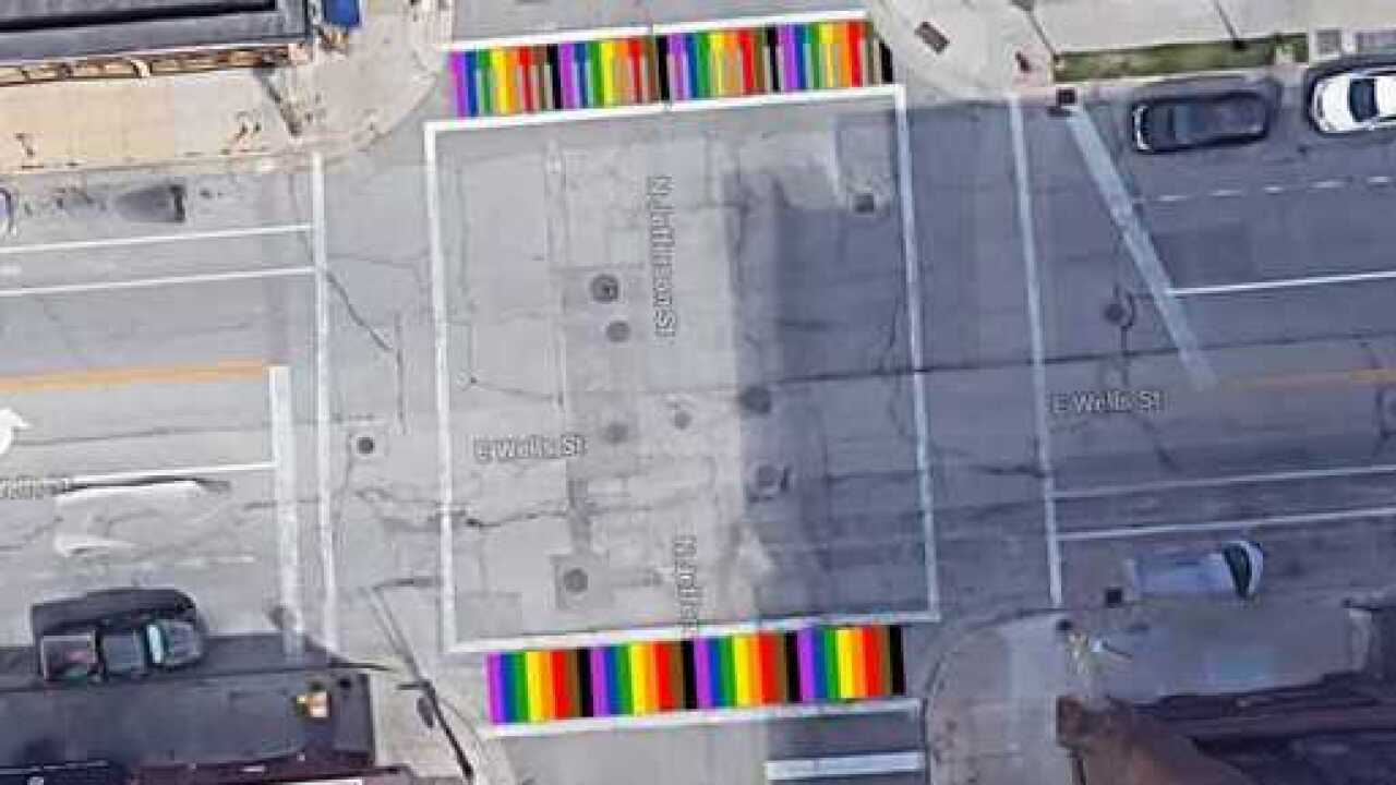 Cathedral Square rainbow crosswalks to be painted Saturday
